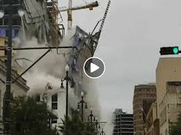 New Orleans: the video of the collapse of the Hard Rock Hotel