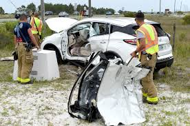 A rollover accident sends three people to a Panama City hospital